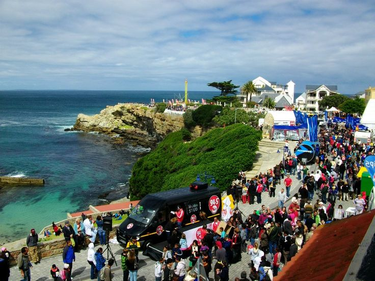 Jam packed streets during the Hermanus Whale Festival.