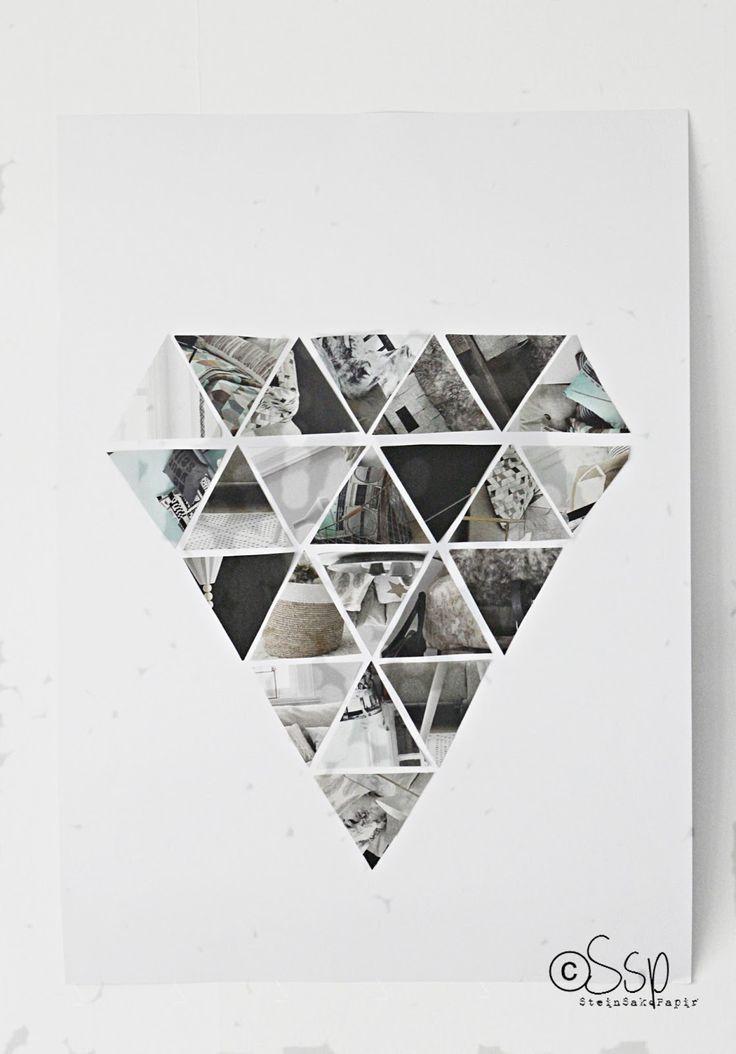 DIY: geometric wall hanging