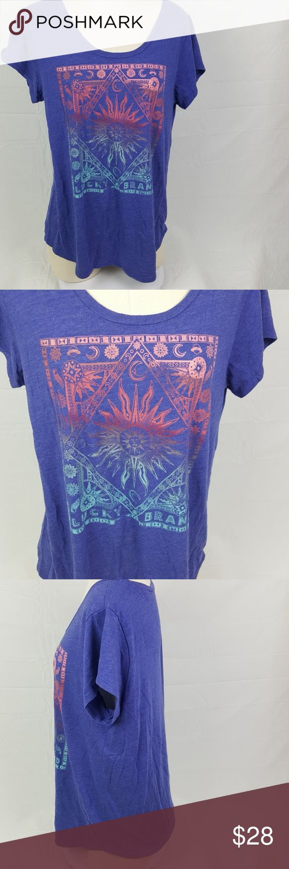 """Lucky Brand Womens Short Sleeve T-Shirt Aztec NWOT Brand new, arrived with no tags.  26"""" long 21"""" chest  Bin H7 Lucky Brand Tops Tees - Short Sleeve"""
