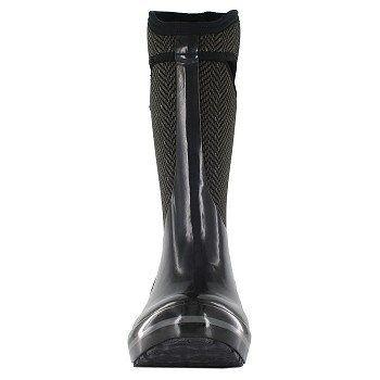 Bogs Women's Plimsoll Herringbone Tall Waterproof Winter Boots (Black/Grey) - 7.0 M