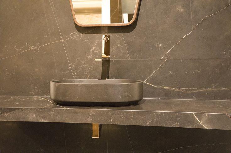 #Karon - коллекция мебели для ванной комнаты из натурального камня в стиле минимализм фабрики @anticcolonial #artcermagazine #design #интерьер #журнал #ceramica #tile #керамическаяплитка #дизайн #стиль #тенденции #новинки #LAnticColonial #минимализм #натуральныйКамень