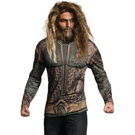 Justice League Mens Aquaman DC Superhero Adult Costume Top Shirt