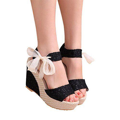 f0116cef172aa3 Tendance Chaussures 2017/ 2018 : Sandales Compensées Femme Sandales Talon  Compensé Chaussures Tongs Sandales Ta