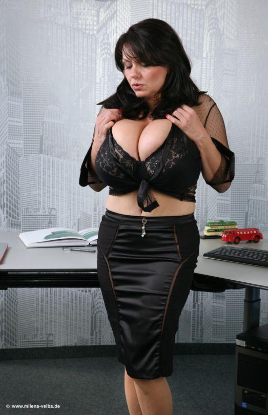Lovely tits of Milena Velba | Milena | High waisted skirt ...