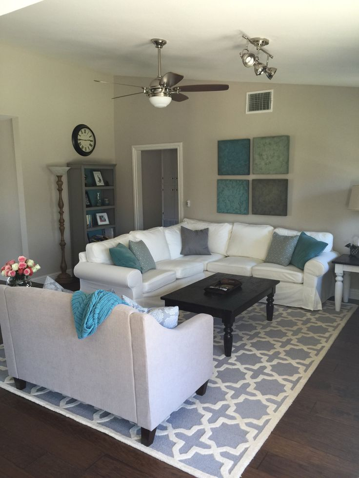 17 best images about project ugly house on pinterest - Open concept living room furniture placement ...
