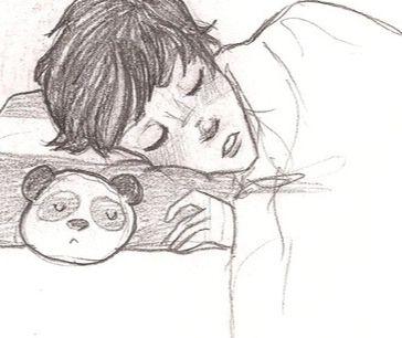 Percy and his pillow pet Panda ;)
