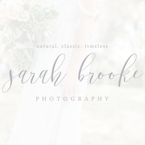 Take a look at the brand and website created for Sarah Brooke Photography!