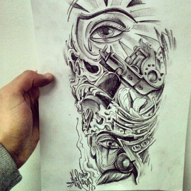 chicano tattoos | MIKERU TATTOO STUDIO: Chicano style.. curro para Luismi