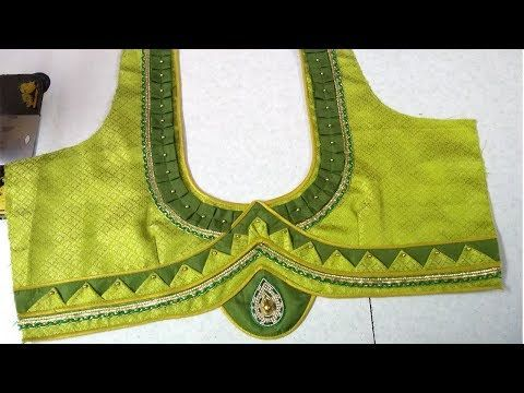 Blouse back neck designing at home || Womens fashion blouses || Latest designs of ladies blouses - YouTube