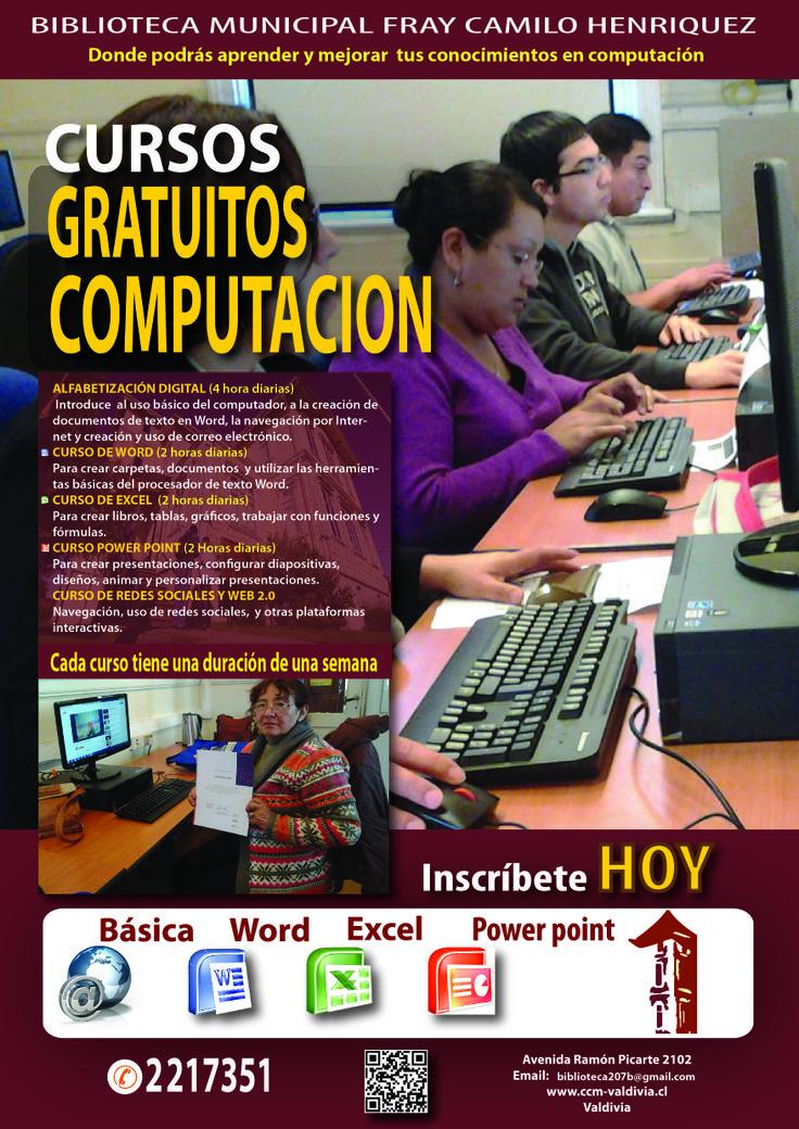 CURSOS GRATUITOS DE COMPUTACION