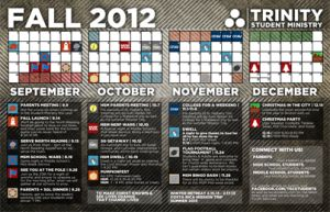 Download this free, editable Youth Group Calendar!