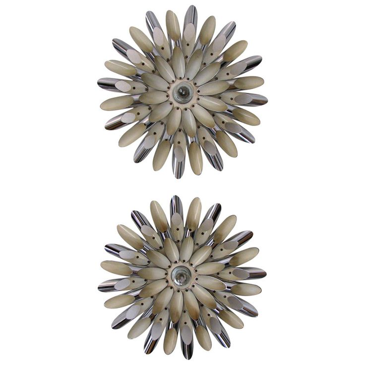 Spectacular Pair of Italian , Midcentury Wall Lights | From a unique collection of antique and modern wall lights and sconces at https://www.1stdibs.com/furniture/lighting/sconces-wall-lights/