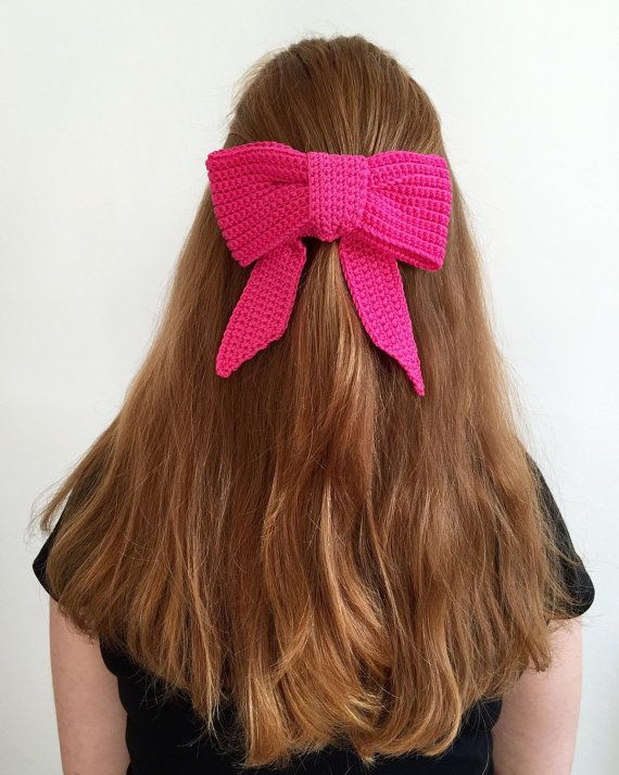 Crochet Hair Clip Ideas : ... Crochet Hair Bows on Pinterest Crochet Bows, Crochet Hair Clips and