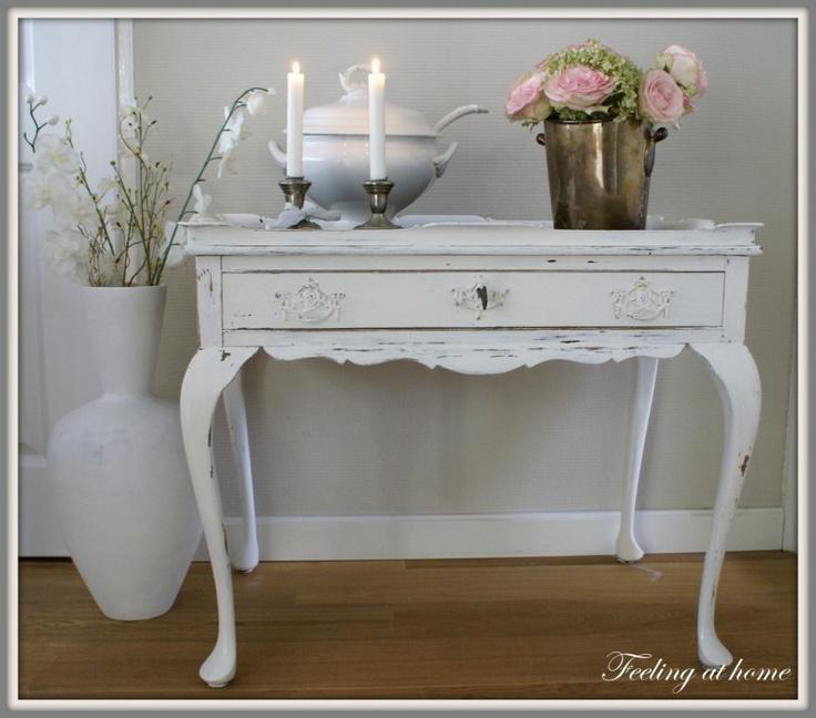 Notenhouten tafel, makeover old table