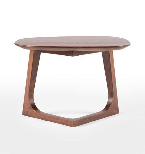 Chevron Walnut Side Table  D4962