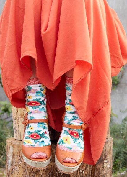 Party flower socks. Hop socks. Calcetines.  www.hopsocks.com