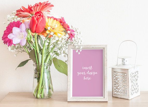 Silver/Grey Frame Mockup With A Beautiful Colorful by JeanBalogh