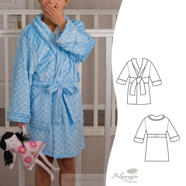 The Finley & Quinn robe is a PDF sewing pattern by Pollywoggles.
