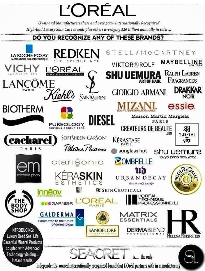Guess who owns 500+ brands worldwide, all except one ( #Seacret ), and instead manufactures for us because they want to be a part of what we're creating? #Loreal #skincare