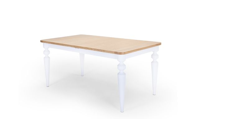 Betty Extending Dining Table, White | made.com