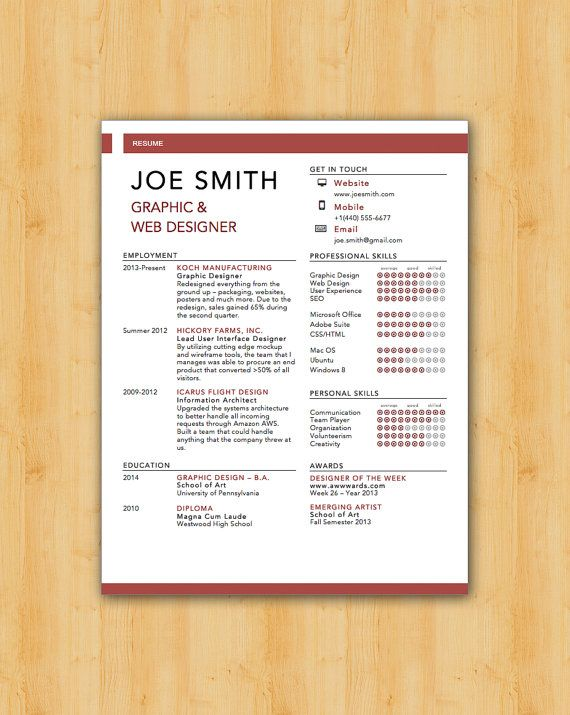 42 best Our Resume Templates images on Pinterest Modern design - job resume maker