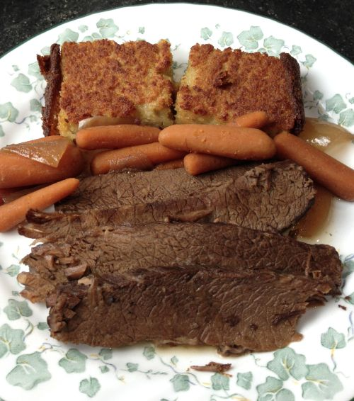Slow Cooker Sweet & Savory Brisket | Flamingo Musings - Another reason to love jam!