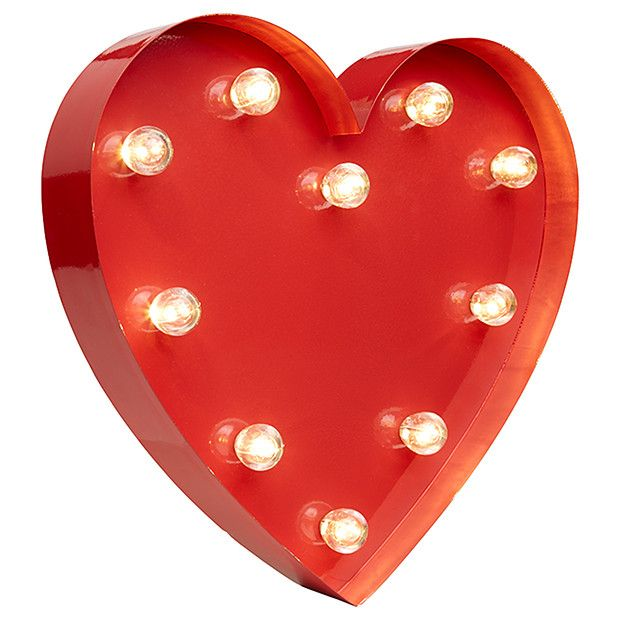 Marquee Heart Light - Red