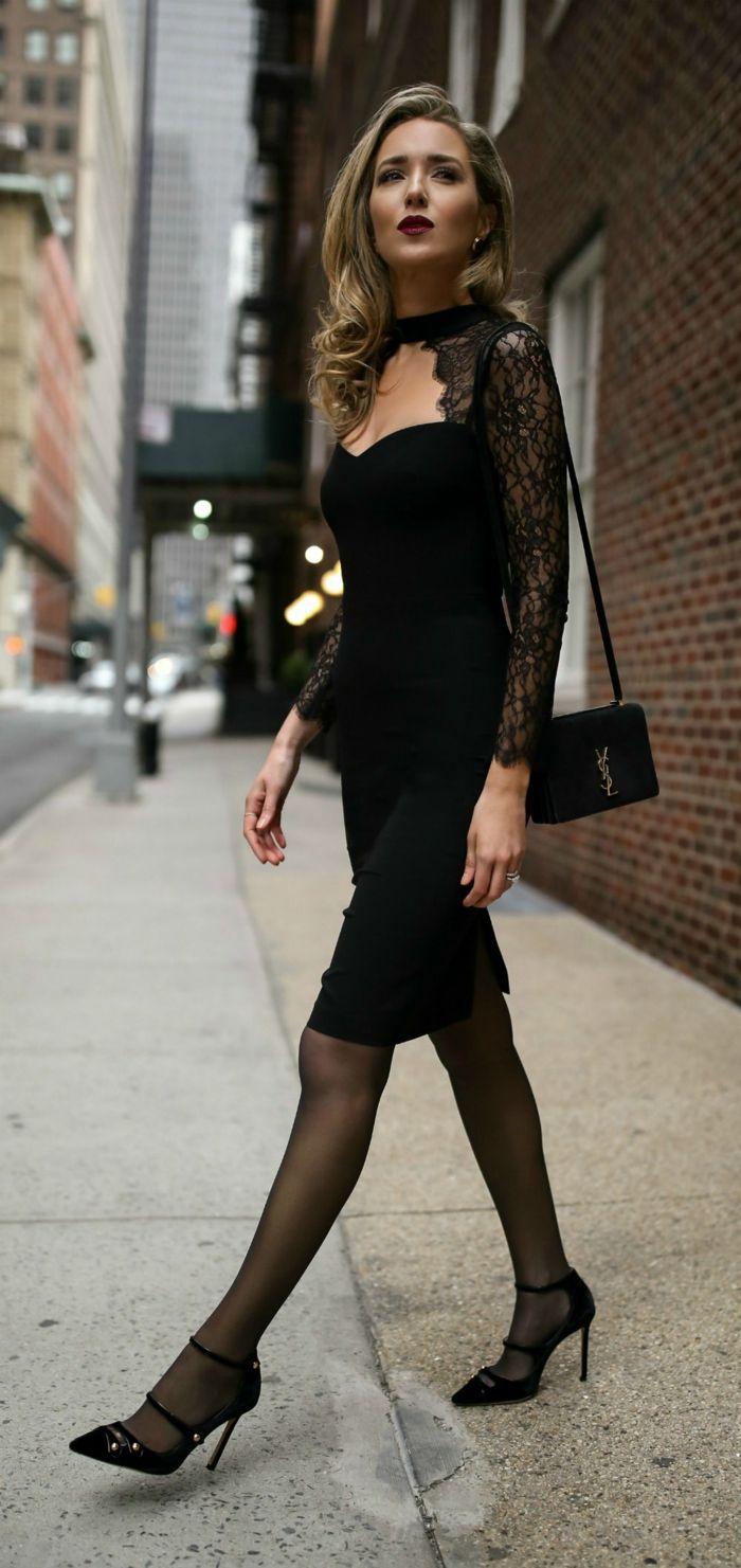 Jolie tenue de soirée femme mariage tenu soirée femme robe noire dentelle c5306353bb7