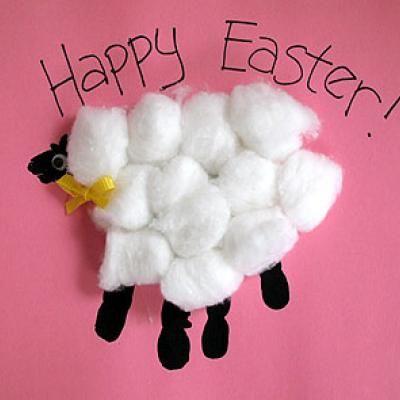 handprint Easter lambHandprint Easter, Hands Prints, Crafts Ideas, For Kids, Easter Cards, Easter Crafts, Kids Crafts, Lambs, Preschool Crafts