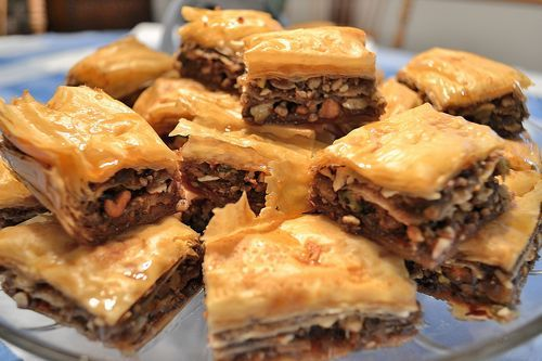 Home made baklava. Not hard at all. Step by step photos and tips. Recipe