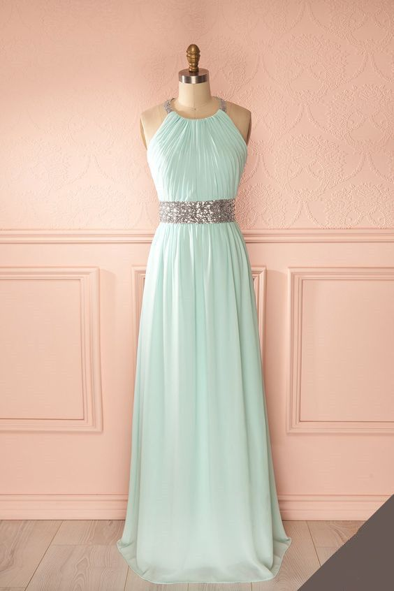 Halter Prom Dress,Chiffon Prom Dress,Fashion Prom Dress,Sexy Party