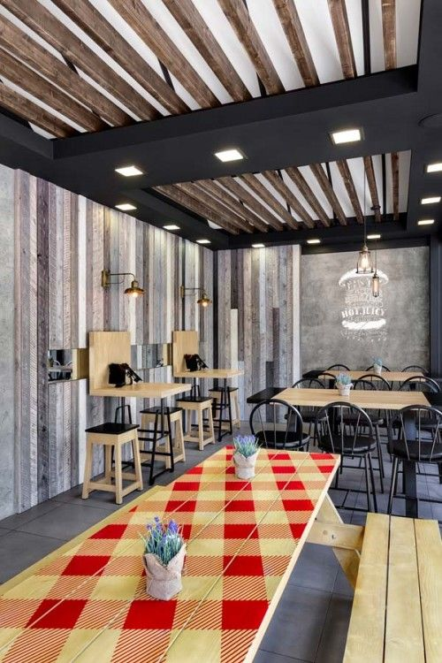 The new architectural concept for goodys burger house restaurants was created by chadios associates in response to the companys desire to redefine the