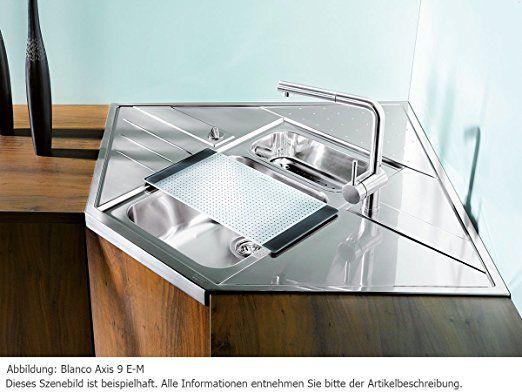 Blanco Axis 9 E-M Einbauspüle Edelstahl Spültisch Küchen-Spüle Auflagebecken: Amazon.de: Küche & Haushalt