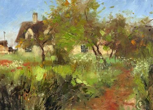 """""""The Old Orchard"""" - Original Fine Art for Sale - © Nigel Fletcher"""