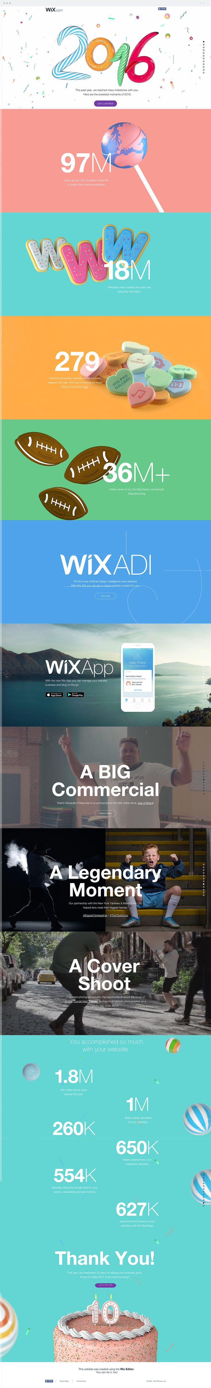 This past year has been stunning, inspiring and memorable thanks to our users! Check out the most stunning moments of 2016 at Wix.com.