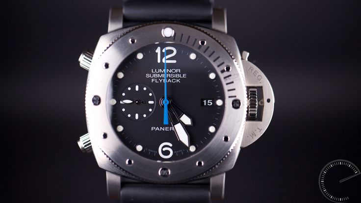 The Real Deal  The Officine Panerai  Luminor Submersible 1950 3 Days Chrono Flyback Automatic Titanio – 47mm (PAM 00614) features some styling elements from the 1956 Egyptian Navy issue watch, albeit in this instance the Panerai has a smaller case and a modern, cutting-edge movement.  #diverswatch #luxurywatch #watch  http://www.escapementmagazine.com/articles/panerai-luminor-submersible-1950-3-days-chrono-flyback-automatic-titanio-47mm-pam-00614.html/