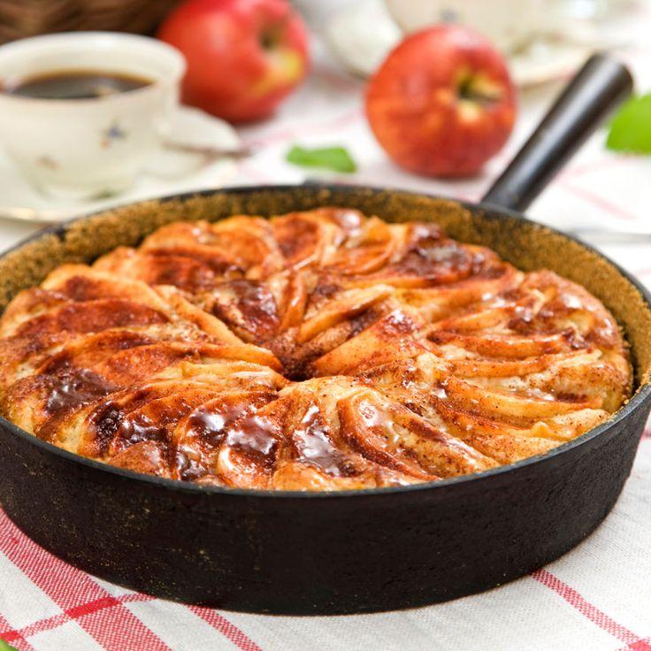 En rustik och rejäl äppelpaj.