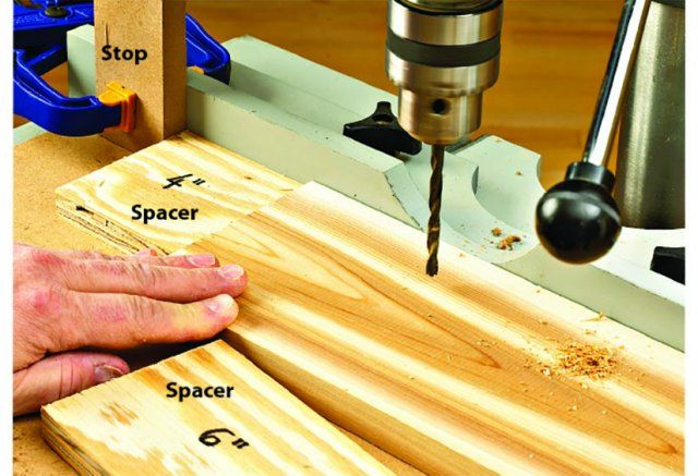 Add Spacers To A Single Stop If You Re Boring A Series Of Holes On
