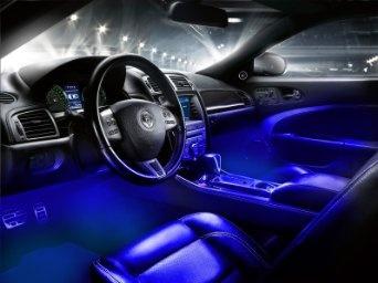 Interior LED Underdash Lighting Kit 4pc. Blue     Http://www