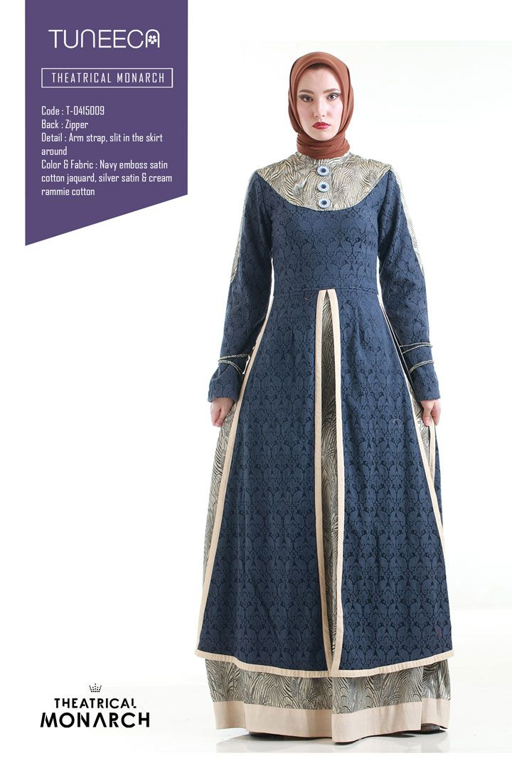 The Blue Moussaief by Tuneeca   #tuneeca #muslimwear #hijab #fashion #ethnic