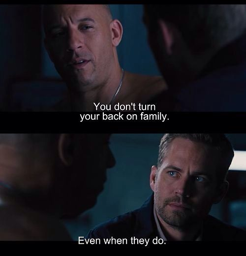 ~~ Fast and furious quote ~~ Dom's response to Letty's cold actions due to her amnesia :(
