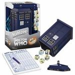 Doctor Who TARDIS Yahtzee game  Created with you Whovians in mind, this Doctor Who Collector's Edition Yahtzee Game features 5 custom dice! It also includes a travel-sized TARDIS dice cup.    Doctor Who TARDIS Yahtzee game.  Secure your limited edition item by ordering today at Urban Collector.