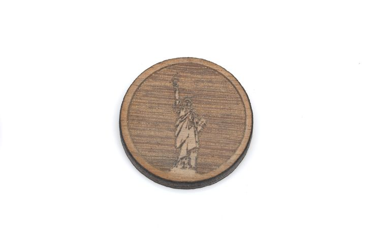 Set of 6 STATUE of LIBERTY charms Laser Cut Supplies Laser Engraved Wood Earring Gauge Plug Sustainable Wood Supplies lcw0091