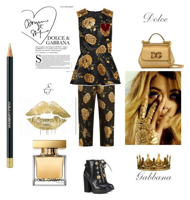 """""""18.01.07"""" by chicwomens on Polyvore featuring Dolce&Gabbana, Seletti, Oliver Gal Artist Co., gold, Dolce, newlook and 2018"""