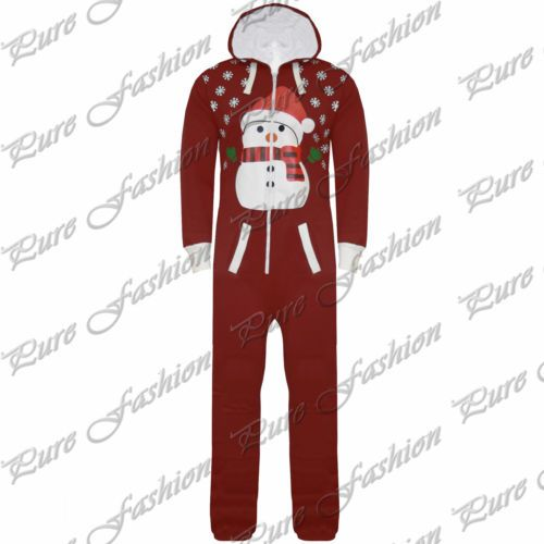 New Unisex Womens Mens Kids All In One Xmas Piece Santa Snowman Christmas Onesie | eBay
