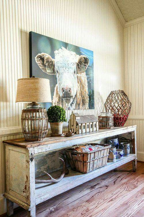 Salvaged buffet, country style