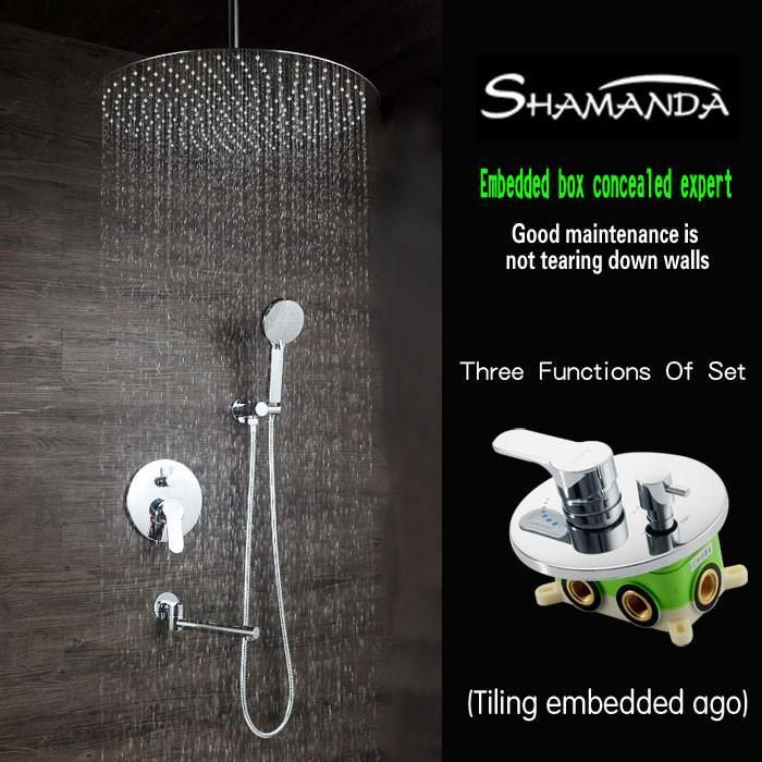 Type Bath Shower Faucets Embedded Box Mixer Valve Faucet Brand
