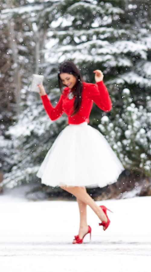 Winter Wedding | Red Sweater and Heels