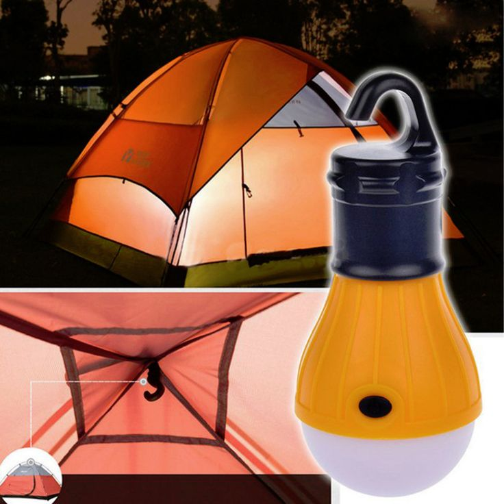 Portable outdoor Hanging 3-LED Flashlight Camping, Soft Light LED Camp Lights Lamp For Tent Camping Fishing