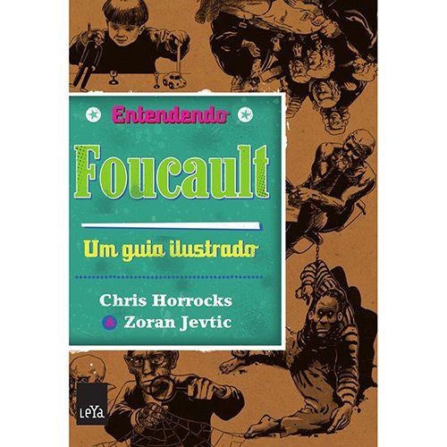 Título: Entendendo Foucault: Um Guia Ilustrado - Entendendo. Autores: Chris Horrocks, Zoran Jevtic. Sinopse: Saiba tudo sobre o mais controverso filósofo dos últimos tempos.   Antissocial, controverso e dado à depressão, em 1948, Foucault cortou o peito com uma navalha, perseguiu um estudante da ENS (École Normale Supérieure) e tentou se matar tomando pílulas. Foi aí que teve seu primeiro contato com a psiquiatria e passou a também estudá-la.